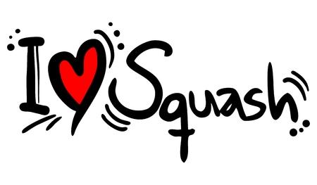 Squash love Vector