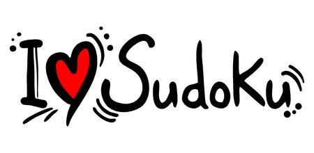 Sudoku love Illustration