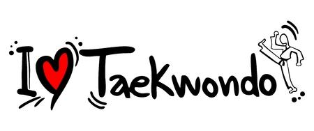 arts symbols: Taekwondo love
