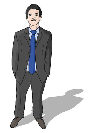Elegant businessman Vector