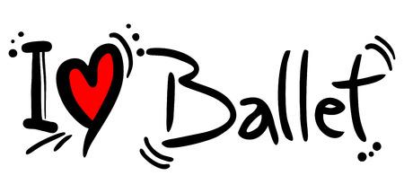 en pointe: Love ballet Illustration