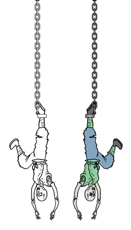 Hanging man Illustration