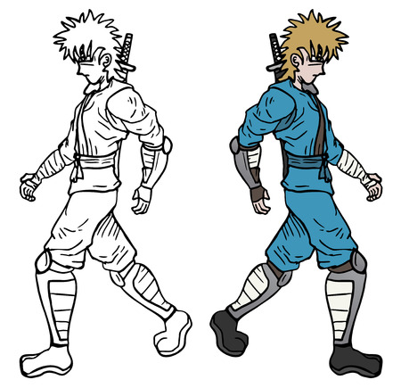 avenger: Color ninja Illustration