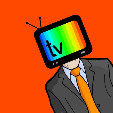 annoyance: Man tv Illustration