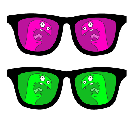 ray ban: Glasses puppet