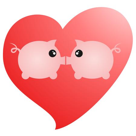Love pigs Vector