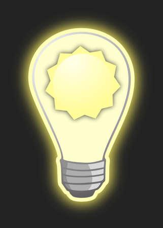 sun energy: Sun energy Illustration