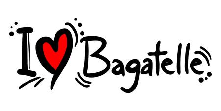 Bagatelle love Ilustração