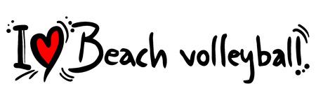 Beach volleyball love Vector