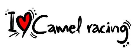 running camel: Camel racing love