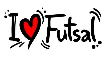 futsal love Stock Illustratie