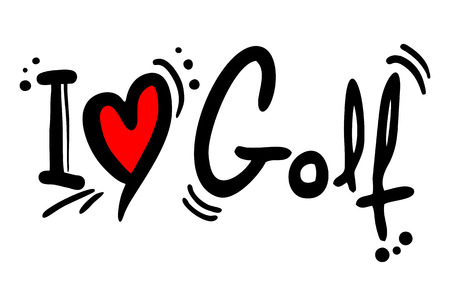 Golf love Vector