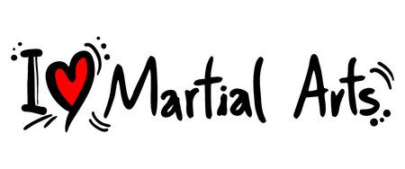artes marciales: Amor artes marciales