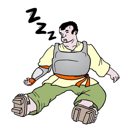 Sleep man Vector