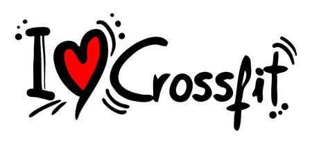 Crossfit love Vector