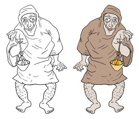 unshaven: Old man Illustration