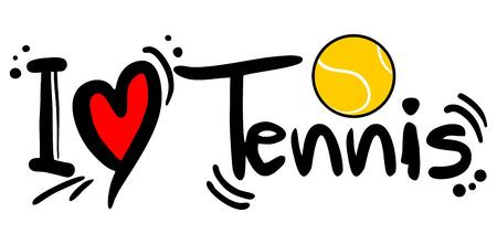 Tennis love Vector