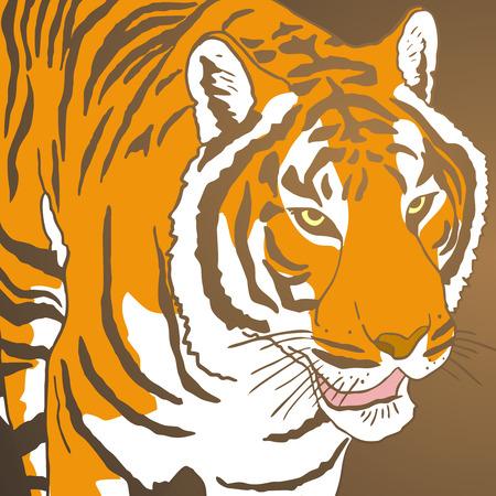 palette knife: Tiger cover Illustration