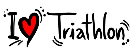Triathlon love Vector