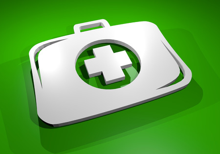 firstaid: Green medical box