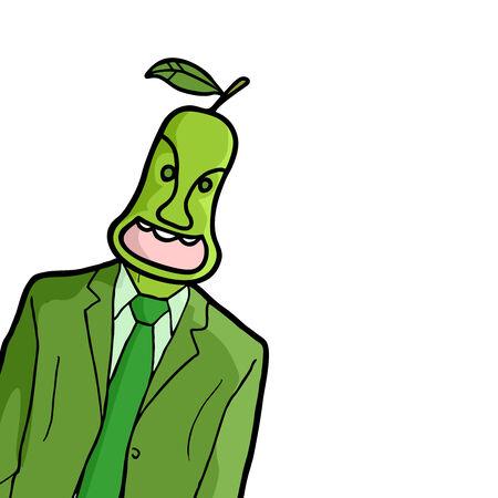 Pear man Vector