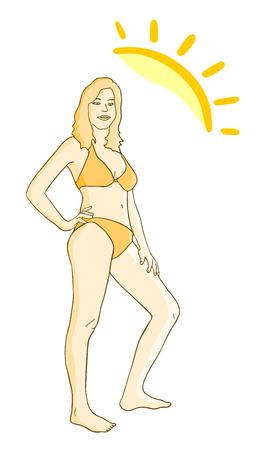 hot chick: Sun girl Illustration
