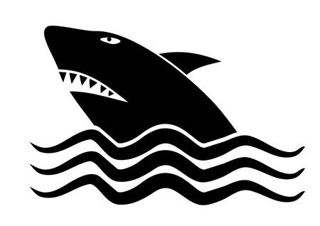 Shark symbol Ilustração
