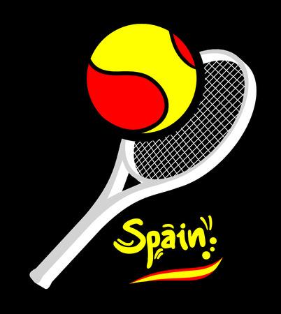 Spain tennis Vector