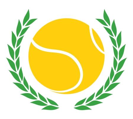 tennis racket: Victory tennis emblem