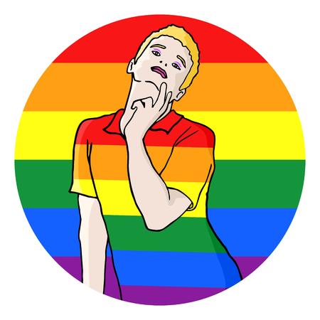 homosexual: Homosexual symbol Illustration