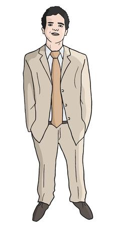 dressy: Hombre de la chaqueta elegante Vectores