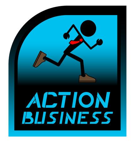 validated: Action business Illustration