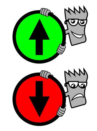 raise the thumb: Signal arrow Illustration