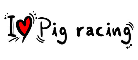 Pig racing love