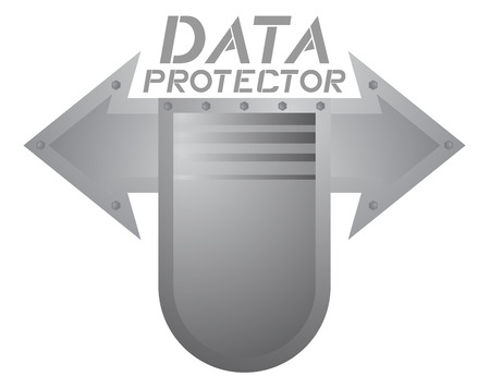 Data protector symbol Vector