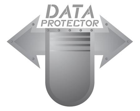 Data protector symbol Illustration