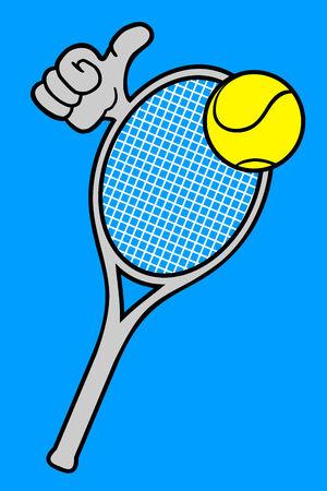 Funny tennis Vector
