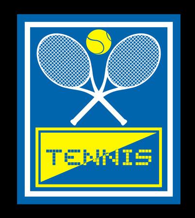 raquet: Tennis sign