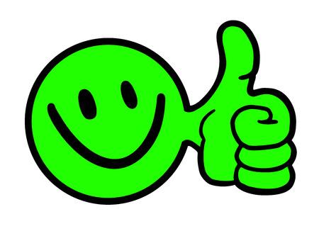 smiley pouce: Heureux ic�ne