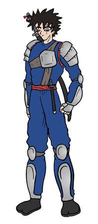Warrior vector draw Vector