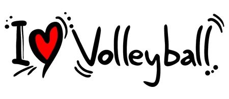 volleyball serve: Volleyball love