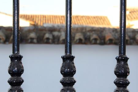 iron barred: Grating windows