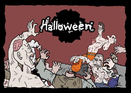 halloween message: Halloween message Illustration