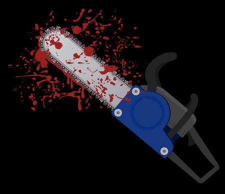 felling: Blood chainsaw