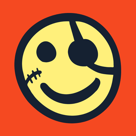 Smile pirate icon Vector