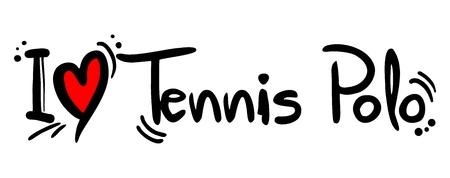 Tennis Polo love Vector