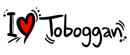 toboga: Amore Toboggan Vettoriali