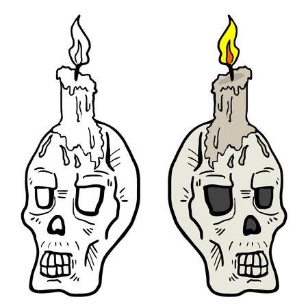 Ancient skull Vector