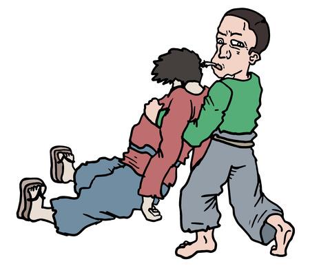 passerby: Help man draw