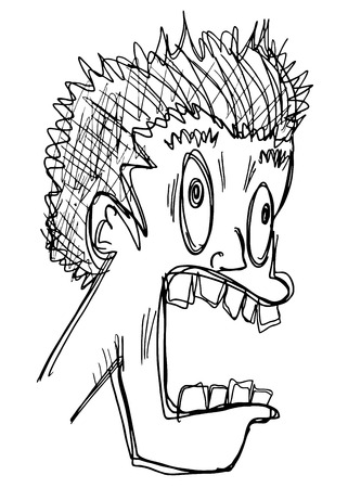 quivering: Funny crazy face draw